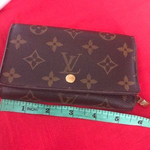 Louis Vuitton short wallet monogram CA 1014